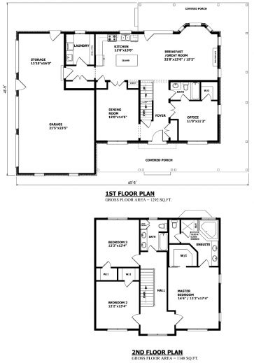 2 story floor plans and elevation house plan ideas