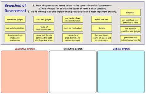 printable lesson plans for grade 3 3 branches of government worksheets worksheets