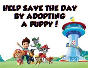 paw patrol birthday party adopt puppy sign instant