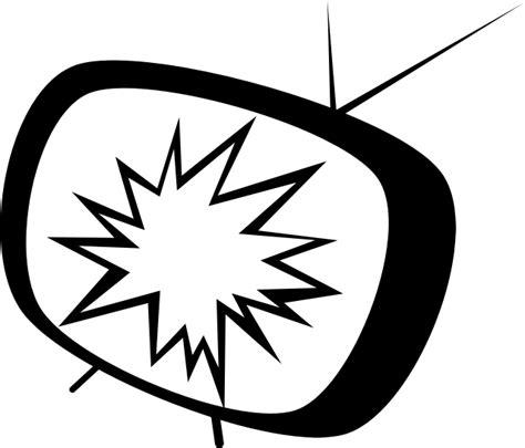 Clipart   TV cartoon broken
