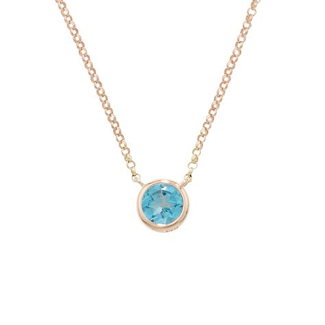 Look A Raindrop Necklace by Classic Gold Single Blue Topaz Raindrop Pendant