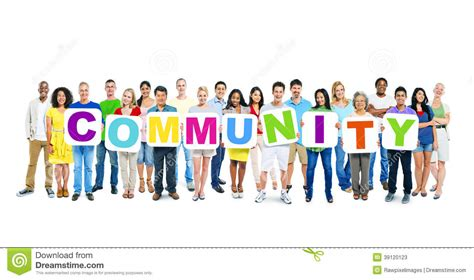 Foto Communitys Kostenlos by World Business Holding Word Community Stock Image