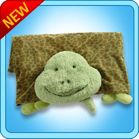 Pillow Pet Blankets by Authentic Pillow Pet Tardy Turtle Reptile Blanket Plush