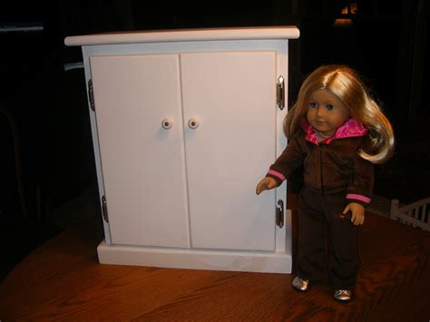 18 inch doll armoire wardrobe for american girl doll by