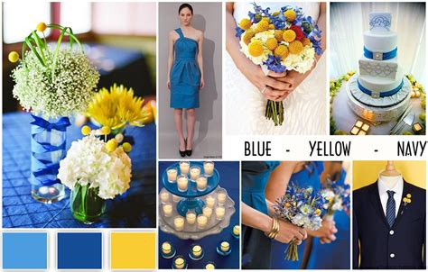 navy blue wedding color schemes wedding color schemes blue yellow navy wedding dress