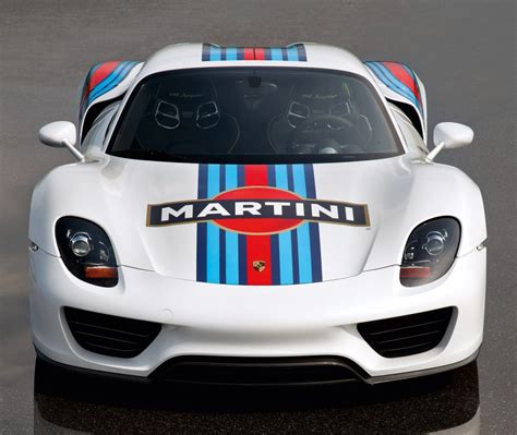 martini racing 2014 porsche 918 spyder in vintage martini racing livery
