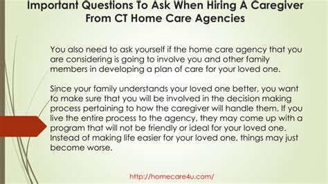 ppt important questions to ask when hiring a caregiver from ct home care agencies powerpoint