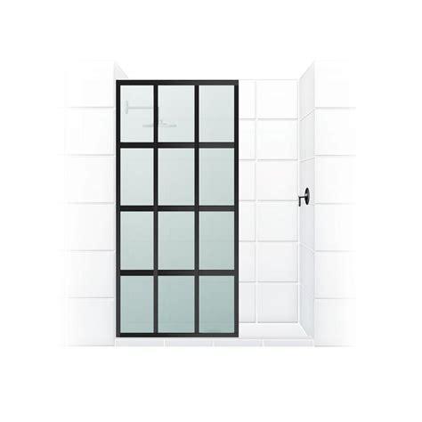 divided light shower doors coastal shower doors gridscape series v1 30 in x 72 in