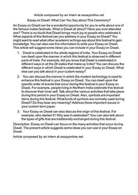 Diwali Essay In by Essay Writing On Diwali In