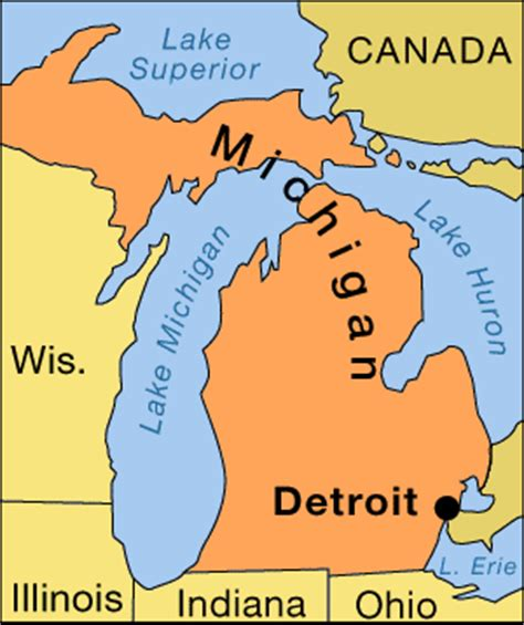 detroit in map of usa detroit michigan united states britannica