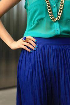 Kemeja Formal Zara 296 Blue cobalt blue skirts on curvy fashion