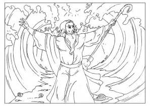 moses parting the sea coloring sheet coloriage mo 239 se ouvre la mer img 25959