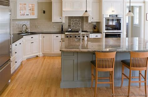 Two Tone Kitchen Cabinet Ideas Pictures Of Kitchens Traditional Two Tone Kitchen Cabinets Kitchen 22
