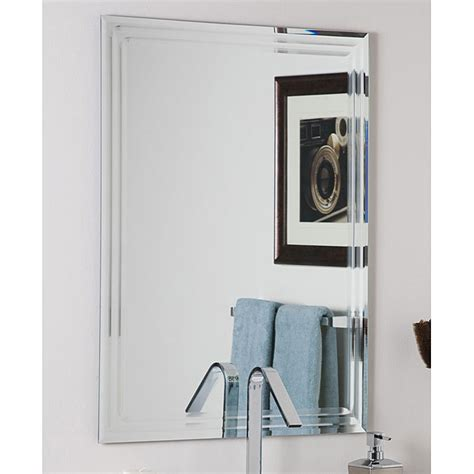 overstock bathroom mirrors frameless tri bevel wall mirror overstock shopping big discounts on bath fixtures