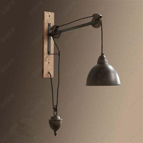 rustic bedroom lighting 2018 novelty retro pulley wall l bedroom living room