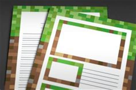 printable minecraft writing paper minecraft themed door hangers editable door hangers