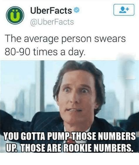 Meme Uber - uber facts facts the average person swears 80 90 times a