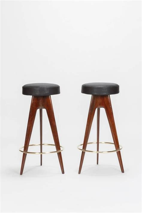 mahogany bar stool pair of mahogany bar stool attributed ico parisi 1950s