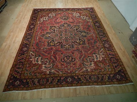 10 X12 Area Rug by Rust 10x12 Area Rug Knotted Heriz Fantastic Lotus Flower Ebay
