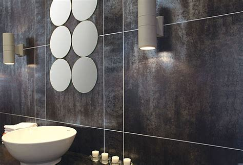 metallic bathroom tiles using metallic tiles in areas