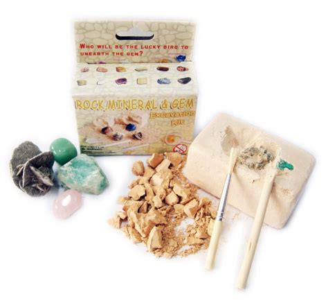 gemstone excavation kit green kid crafts