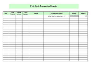 petty cash log preview  microsoft excel printable