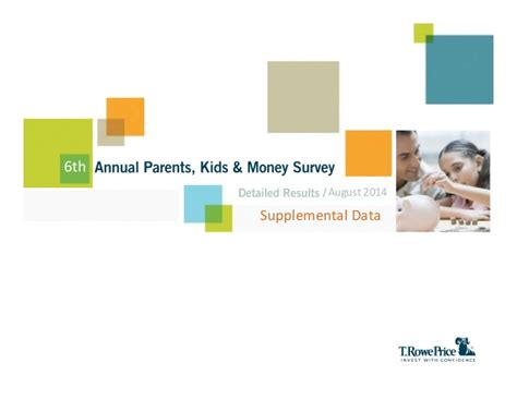 Money Surveys For Kids - 2014 parents kids money survey supplemental data