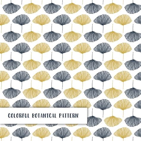 botanical pattern ai colorful botanical pattern with hand drawn elements vector
