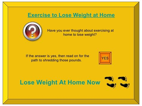 exercise to lose weight at home