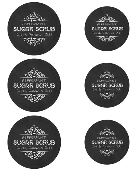 Peppermint Sugar Scrub With Free Printable Labels Mason Jar Gift Idea Mom 4 Real Jar Sticker Template