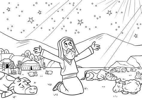 coloring page for abraham god keeps his promises coloring page bible coloring