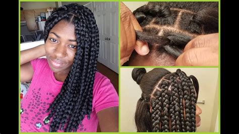 easy hairstyles method apl box braids rubberband method blunt ends youtube