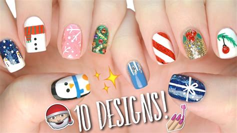 easy christmas nail art without tools 10 easy nail art designs for christmas the ultimate guide