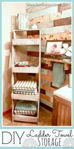 bath towel storage bonfires and wine diy ladder towel storage