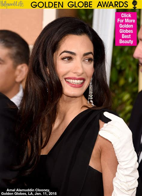 is amal clooney hair one length pics amal clooney s golden globe awards look loose