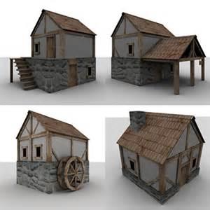 3d House Building Games medieval buildings houses games 3d model