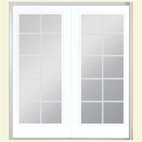Masonite Patio Door Masonite 60 In X 80 In Ultra White Prehung Right Inswing 10 Lite Steel Patio Door With No