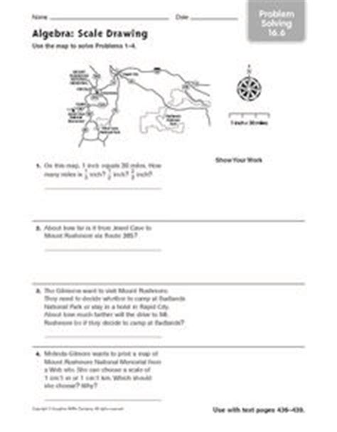 scale drawing worksheets problems solutions algebra scale drawing problem solving 16 6 4th 6th