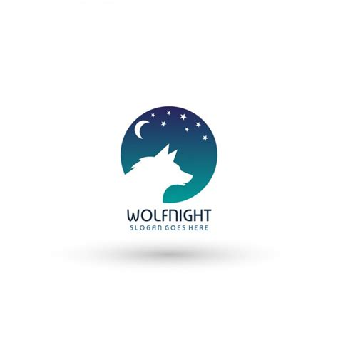 Nightclub Logo Template Wolf Night Logo Template Vector Free Download