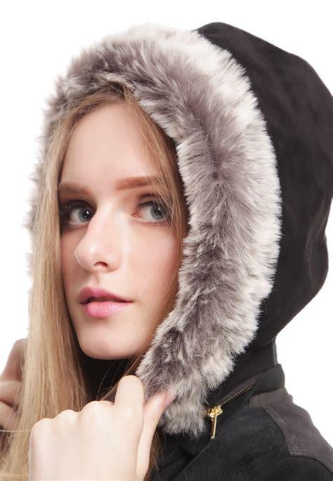 Baju Bulu jaket bulu musim dingin two toned detachable hooded