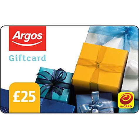 argos gift card 25 pound