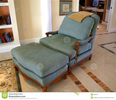 comfortable chair with ottoman comfortable chair and ottoman stock photo image 495478