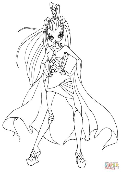 winx club coloring pages winx club icy coloring page free printable coloring pages