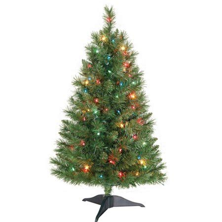 best prelit 3ft christmas trees reviews time pre lit 3 winston pine artificial tree multi color lights walmart