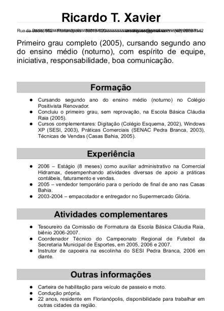 Modelo Curriculum Vitae Para Vendedores 25 Melhores Ideias De Curriculum Vitae Pronto No Modelo De Curriculo Pronto