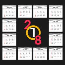 Vector Calendar 2018 Calendario 2018 Descargar Vectores Gratis