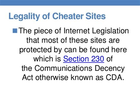 cda section 230 cheater ex revenge websites review and removal