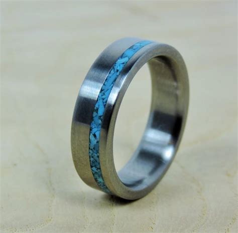 how to make titanium jewelry wedding ring titanium with turquoise ring titanium ring