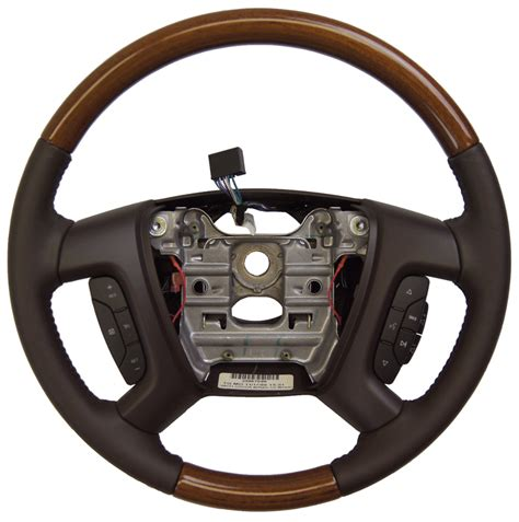 2008 buick enclave steering wheel cocoa leather wood new