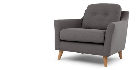 armchair com rufus armchair rhino grey made com